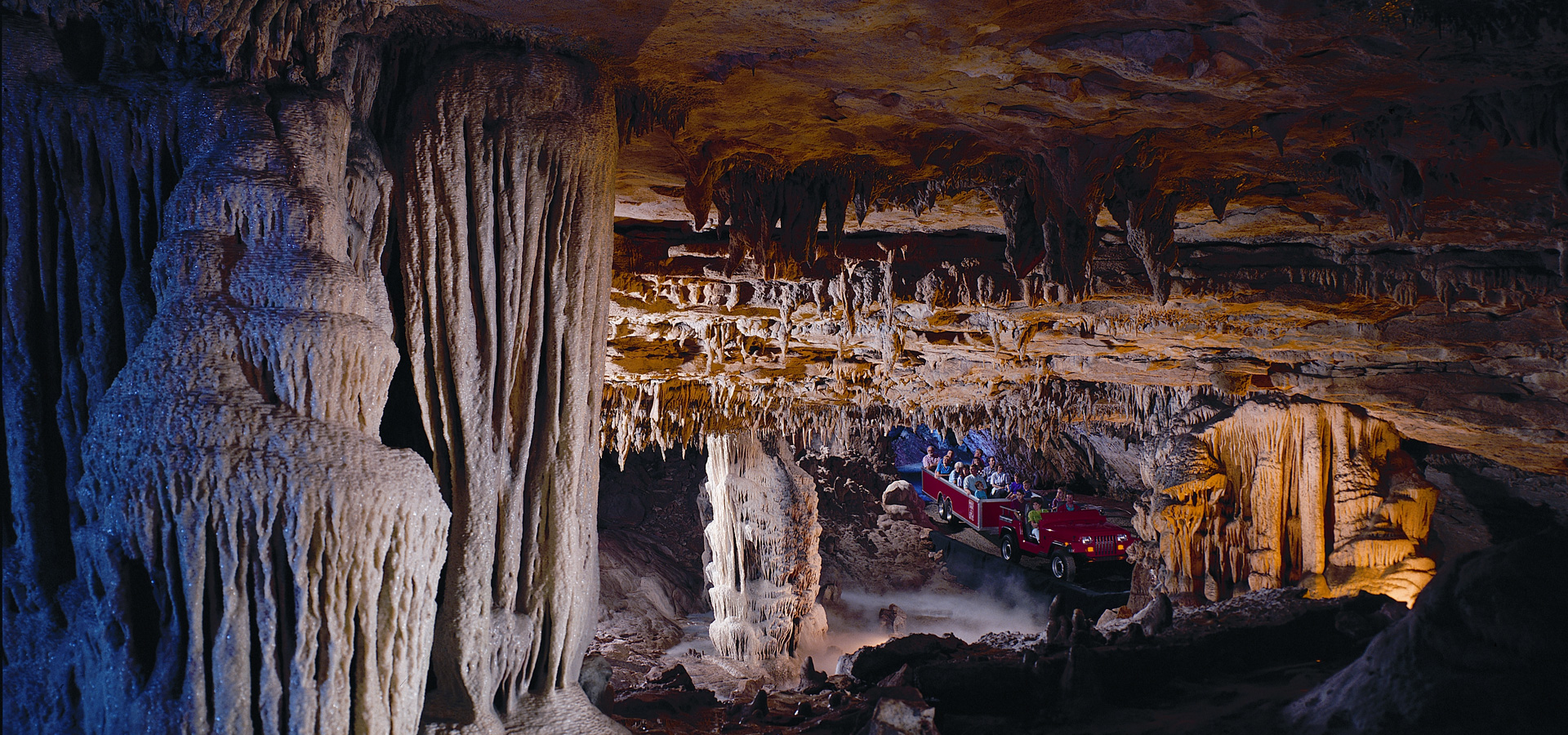 Fantastic Caverns cave is a ride-thru cave attraction for Branson, Mo and Springfield, Mo