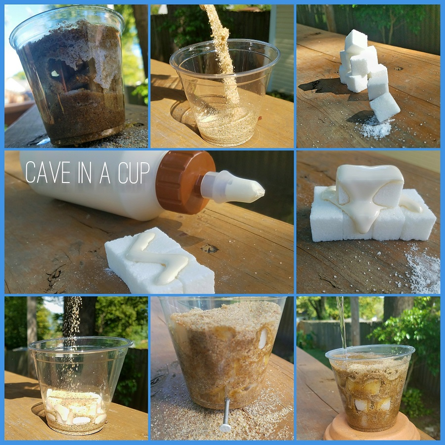 Create Your Own Cave in a Cup Activity