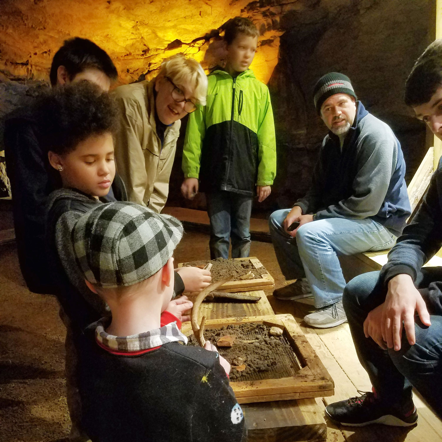 Fantastic Caverns Adventure Tour Fire Pit Excavation