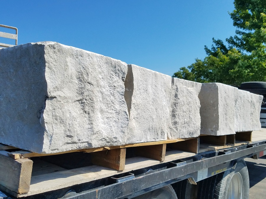 Fossilized limestone from Phenix Marble used in new construction