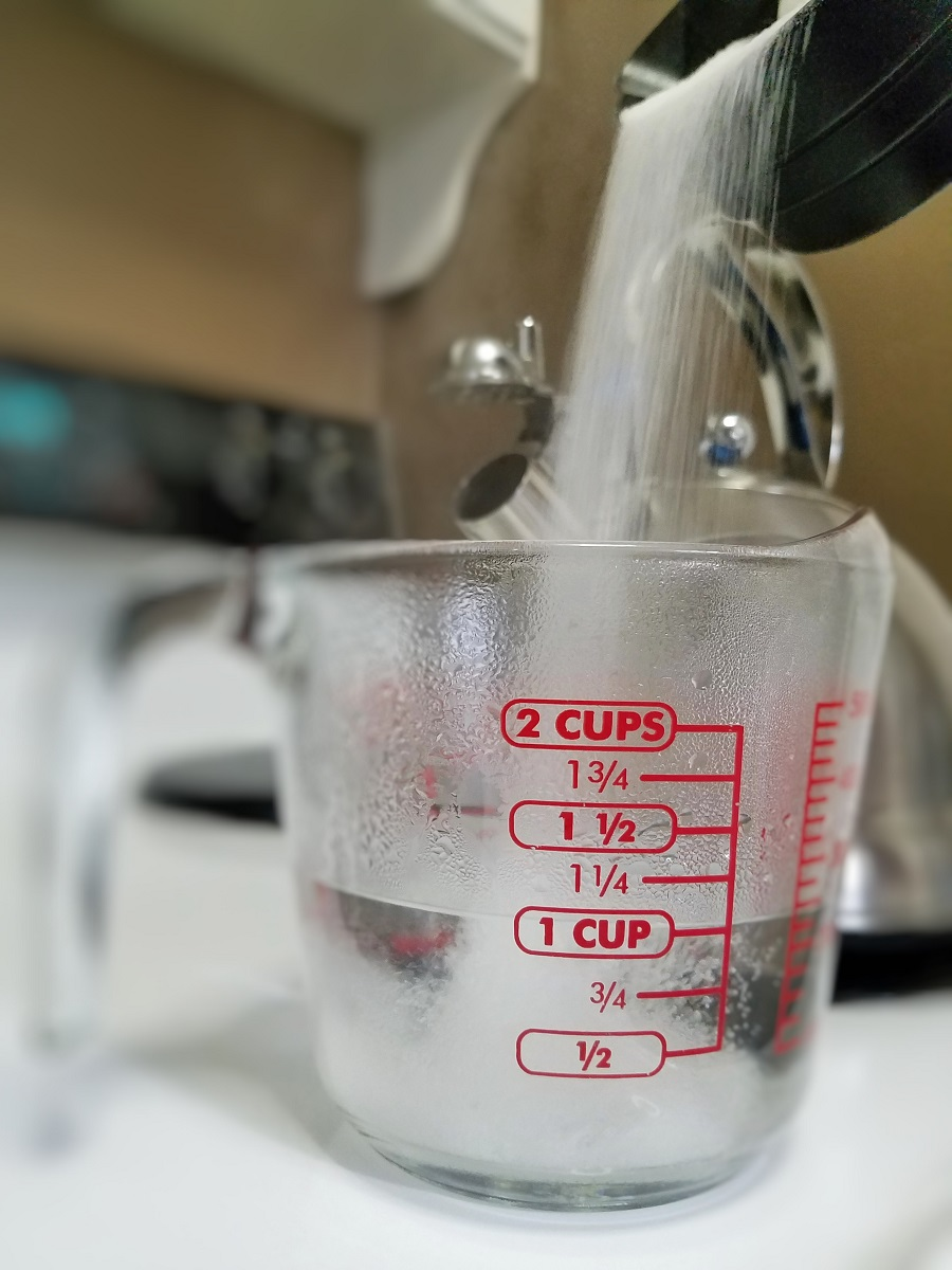 make your own saturated solution to grow crystals